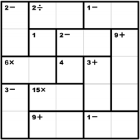 Crafty image regarding printable kenken puzzle